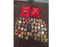 Approximately 70 football pin badges