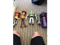 Set of toy story figures
