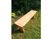 Rustic solid pine bench