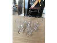 4 Chunky wine glasses