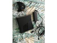 xbox 360s 250gb wired controller and games