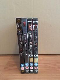 Pirates Of The Caribbean DVD Film Collection - Excellent Condition.