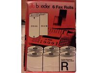 6 x New Fax Rolls - Boxed, Unopened NEW - Chatham -