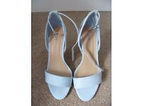 New Look Baby Blue Sandal/Heels - Size 5. Worn once - great condition.