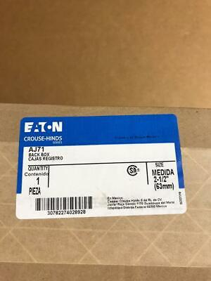 Crouse Hinds Aj71 Back Box 2-12 Explosion Proof New Clean
