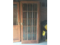 """Glazed door 15 panels, external quality 6'6""""x 2'9"""". 5 available"""