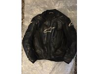 Alpinestars RC1 leather jacket size EU 50