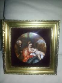 Framed Ceramic Picture