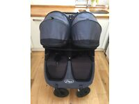 Baby Jogger Mini City GT Double incl: belly bar, rain cover & padded travel bag