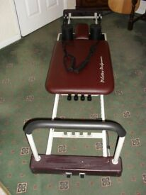 PILATES LUXURY PERFORMER - 4 LEVELS OF RESISTANCE, ADJUSTABLE ROPES, SMOOTH ROLLER, DVD WORKOUT