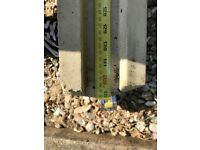 Concrete posts extra long & gravel boards
