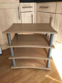 Wooden TV Stand with 3 shelves