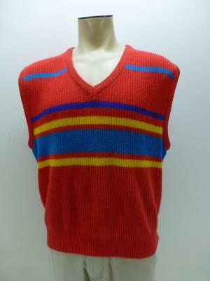 Pacific Knit Shirt (Vtg 70s 80s OP OCEAN PACIFIC red knit sweater vest shirt retro surf mens sz XL)