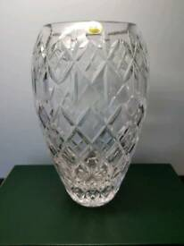"Tyrone Crystal 8"" Dunluce Vase new in box!"