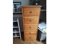Chest of drawers tall boy - pine