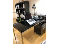 Reversible desk and drawers BLACK gloss - DWELL £120