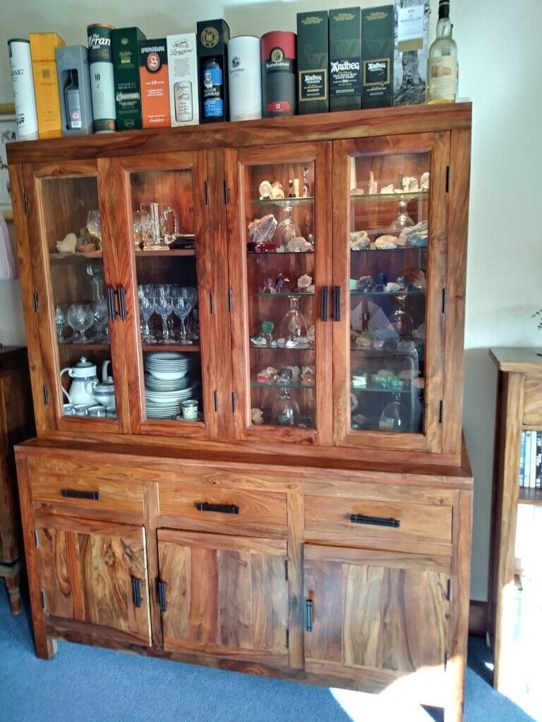 Myakka Display Cabinet Wine Rack And Dining Table With 4 Chairs