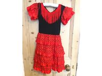 Girls Flamenco Dress in Age 6 or 8