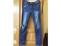 Hollister jeans, 28 inch waist
