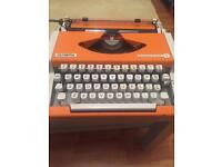 1970s Working Olympia Typewriter - Rare Colour