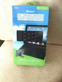 Bluetooth Wireless Keyboard with Stand