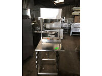 CATERING EQUIPMENT - TABLE WITH SHELF 70X90XH:90CM- Used