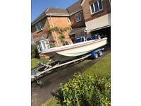 Dory 17 feet 115hp Suzuki outboard boat engine & trailed