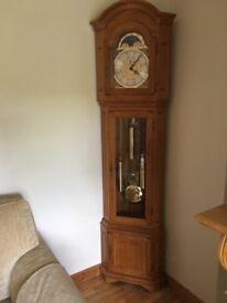 Solid Oak Grandfather Clock