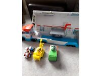 Paw Patroller and 3 vehicles