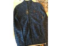 GUESS MENS ZIP CARDIGAN NAVY (NEW) size XS / Small