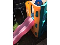 Little tikes wavy slide and climbing frame