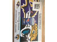 2x Tickets for NFL London Baltimore Ravens @ Jacksonville Jaguars