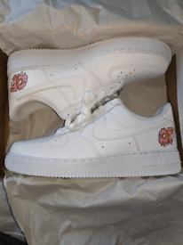 Hand painted white air force ones
