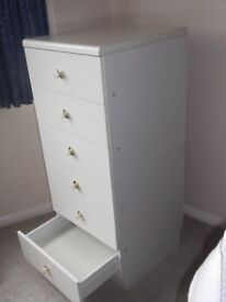 White 6 Drawer Chest of Drawers