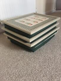 4 Lap trays with cushions
