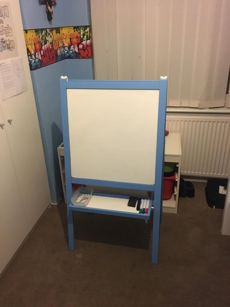 Ikea Easel White Board Chalk Board With Paper Roll In Arnold