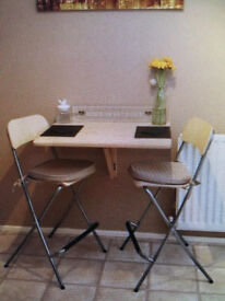 IKEA Table and Two High Chairs