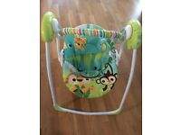 Fisher Price rainforest swing/cradle with music and rocking