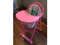 Mothercare Baby Highchair in Pink