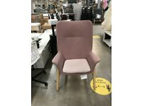 VEDBO High-back armchair, Gunnared light brown-pink, IKEA Bristol #bargaincorner