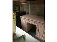 victorian pine dressing table/desk