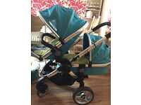 I candy peach sweet pea single and double pram/pushchair