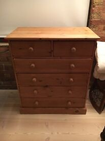 Pair of vintage pine chest of drawers