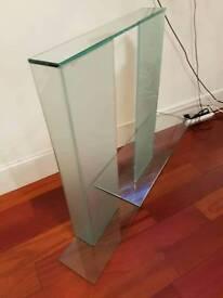 glass TV / mantle piece