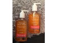 Set of 2 Neutrogena Oil-free Acne wash