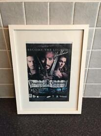 Signed Pirates of the Caribbean picture