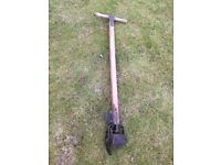 Vintage ATCO lawn edger with wood handle