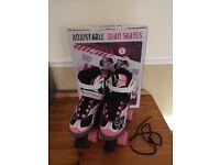 Girls Adjustable Quad Skates Size 1-3