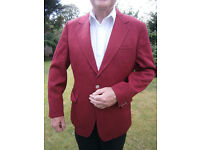 27 Jackets blazers maroon/burgundy job lot £125 suitable for band or club