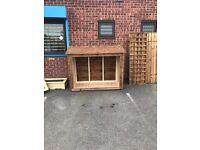 Bespoke wooden log store